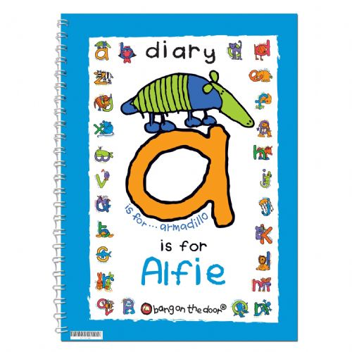 Personalised Bang On The Door Animal Alphabet Boys Diary